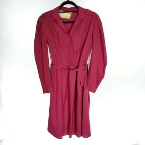 Vintage Long Sleeve Secretary Geek Midi Dress M L